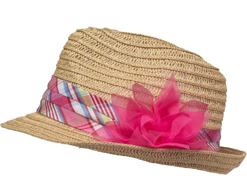 Dětský klobouk slamák BOARD ANGEL Flower Trim Trilby