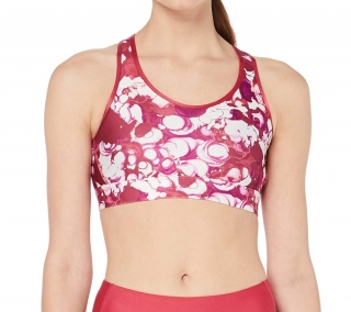 Dámská podprsenka UNDER ARMOUR Mid Mesh Wordmark Sport Bra