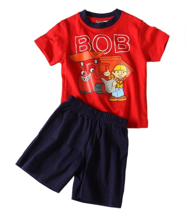 Chlapecké pyžamo Bořek Stavitel - Bob red