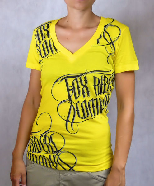 Dámské tričko FOX Live Fast V-Neck